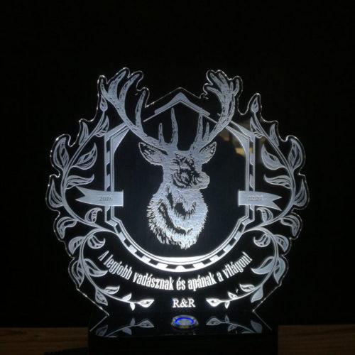 Egyedi világító lámpa és ajándék ötlet vadászoknak