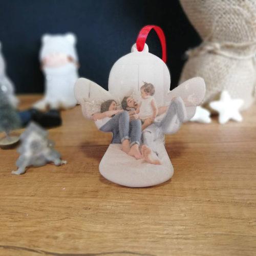 karácsonyfadísz nyomtatva - kerámia angyalka